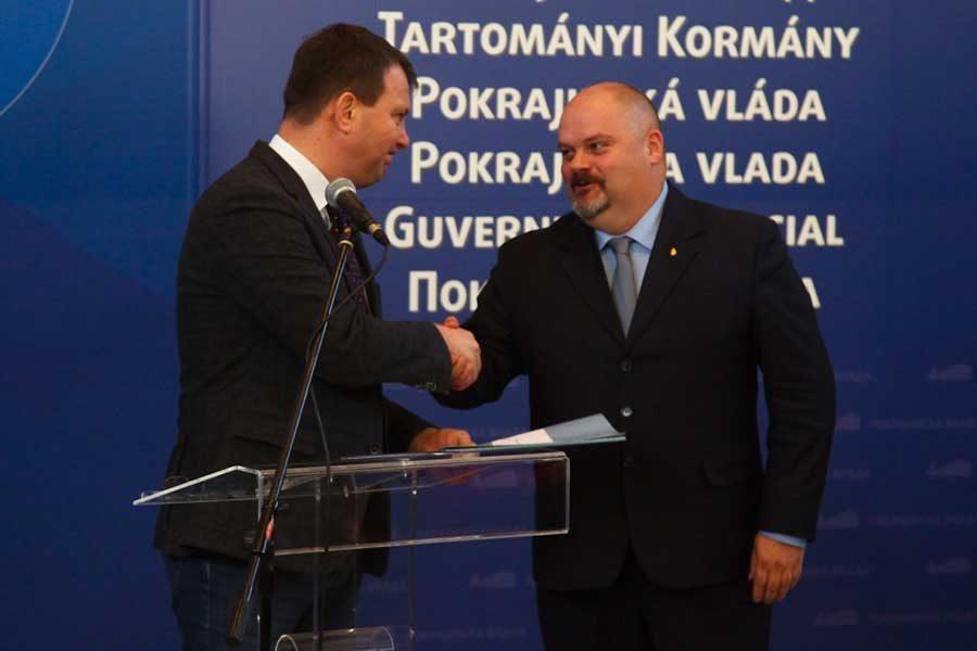 Predsednik Pokrajinske vlade Igor Mirović i gradonačelnik Zrenjanina Čedomir Janjić