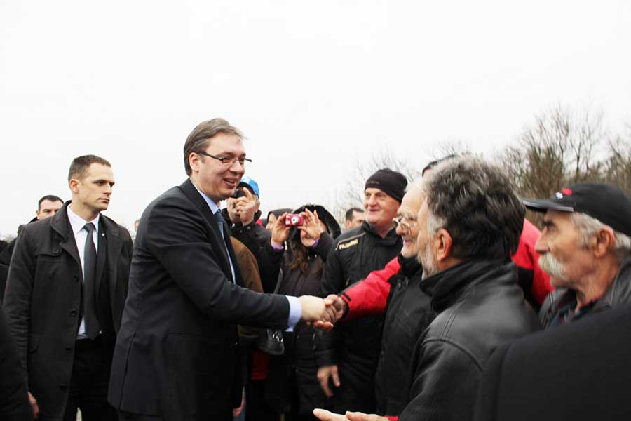 Predsednik Aleksandar Vucic Polaze Kamen Temeljac