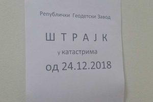 Služba za katastar stupila je u štrajk