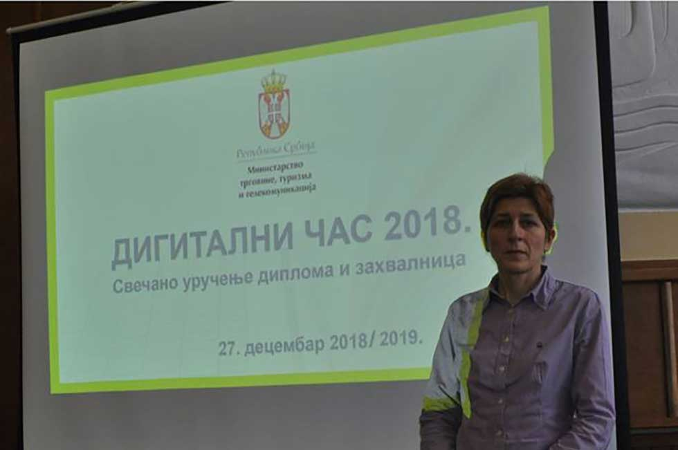 Nastavnica Smiljana Novakov osvojila nagradu na konkursu