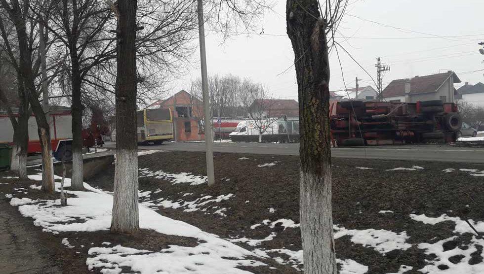 prevrnulo se vatrogasno vozilo