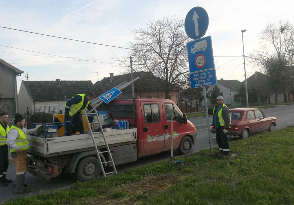 sanacija oštećenih saobraćajnih znakova