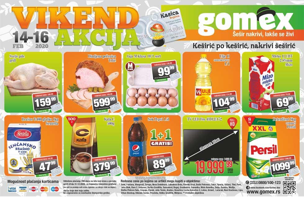 gomex vikend akcija