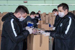 fudbaleri radničkog pakuju pakete
