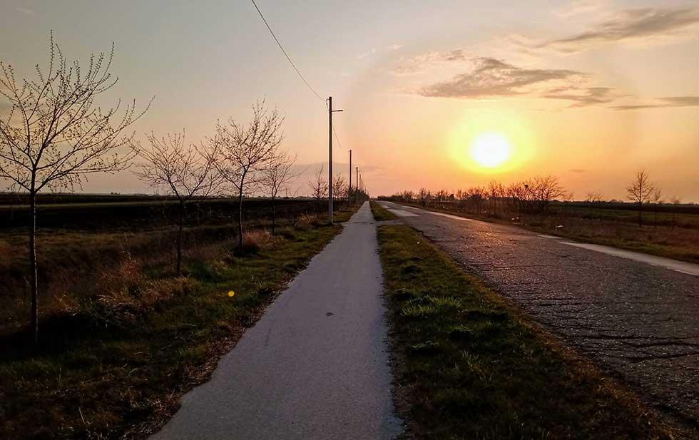 biciklistička staza prema aradcu