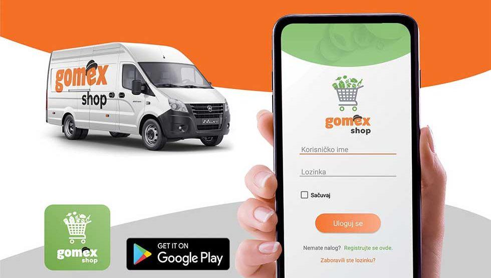 gomex shop aplikacija