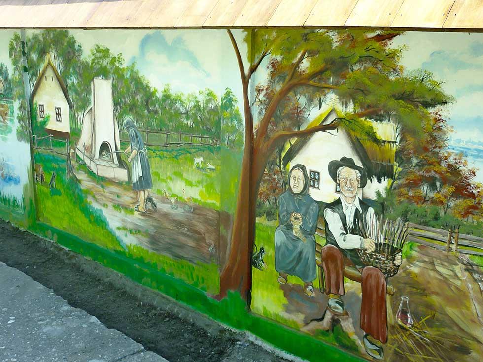 mural u belom blatu