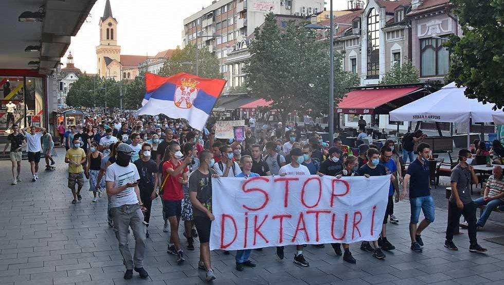 protest u zrenjaninu
