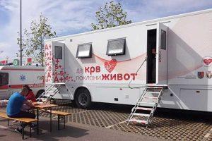 kamion za dobrovoljno davanje krvi