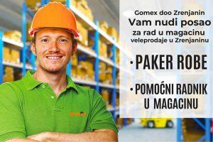 kompanija gomex oglas za posao