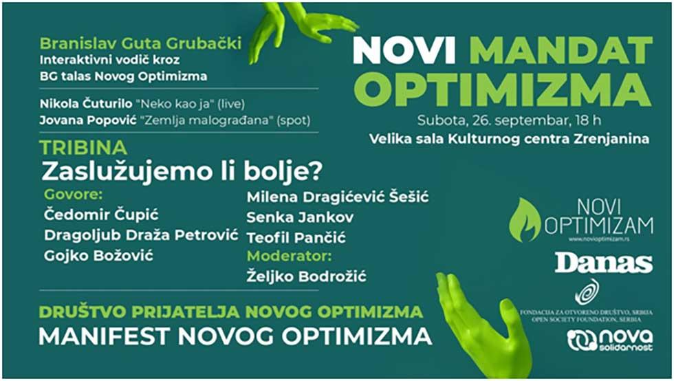 tribina pokreta novi optimizam
