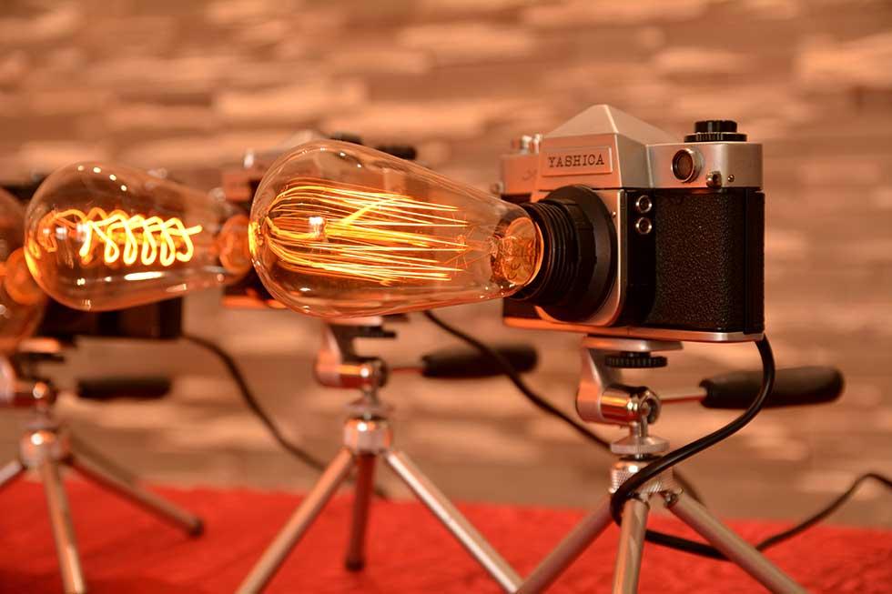 adrian baloš pravi stone lampe od fotoaparata