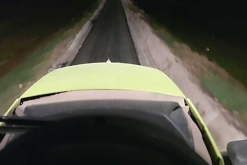 traktorom po biciklističkoj stazi