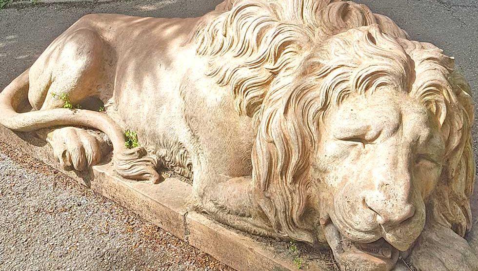 kameni lav u županijskom parku