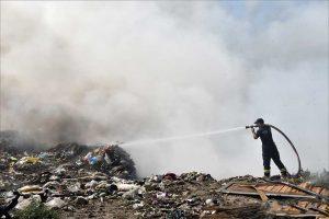 požar na gradskoj deponiji