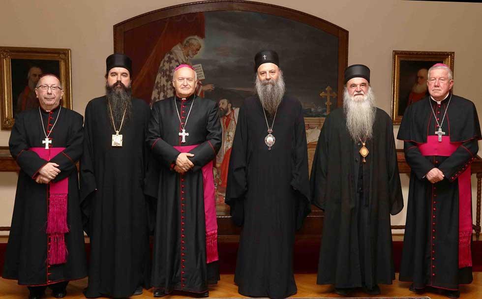 patrijarh srpski porfirije i zrenjaninski biskup ladislav nemet